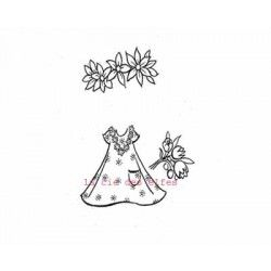 Doll stamp | dress stamp | tampon robe scrapbooking | estampe habit