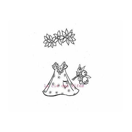 Doll stamp | dress stamp | tampon robe scrapbooking | estampe habit