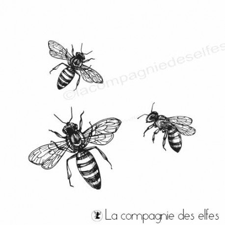étampe abeilles | bee stamp scrapbooking