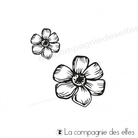 Tampon paquerette | daisy rubber stamp