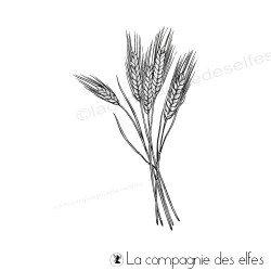 Tampon bouquet de blé