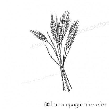 weizen stempeln | wheat sheaf rubberstamp