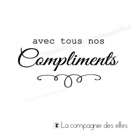 Tampon encreur compliments   achat tampon carte compliment