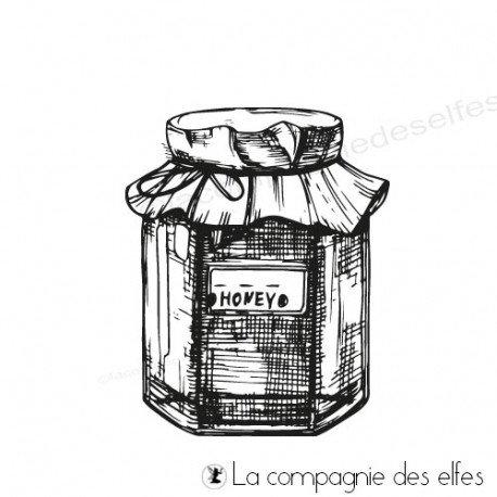 Tampon encreur miel   timbre miel