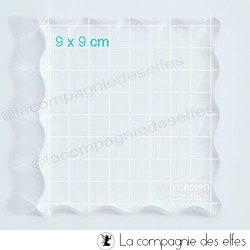 Bloc plexi transparent 9 x 9 cm
