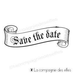 Tampon bannière save the date