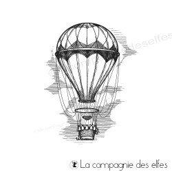 Tampon montgolfière vintage