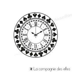 Steampunk clock stamp | timbre alice pays merveille