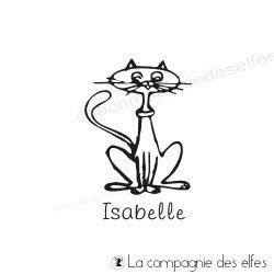 Tampon bois chat personnalisé