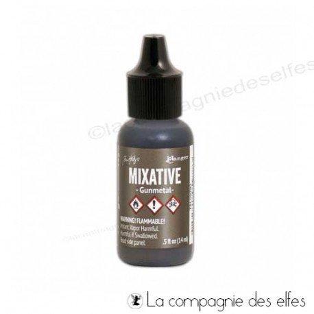 Encre alcool métallique gunmetal | alcohol ink gunmetal