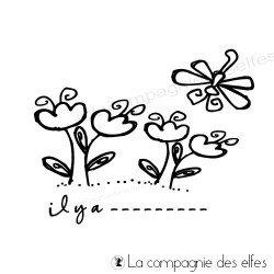 tampon paques | timbre jardin fleurs