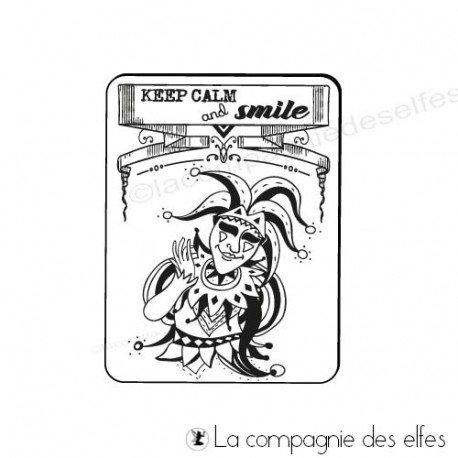 keep calm stamp | smile joker stamp