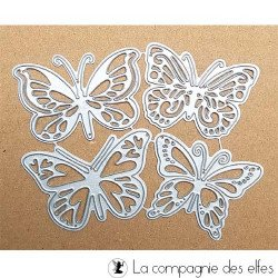 Dies papillon | plaque gauffrage scrapbooking