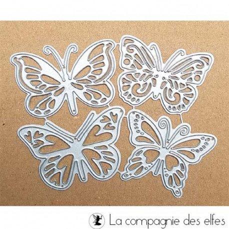 Dies papillon | plaque gauffrage scrapbooking