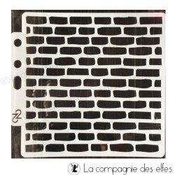 Pochoir mur briques
