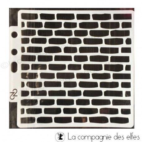 Pochoir mur de brique