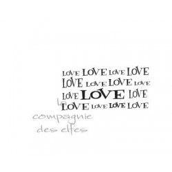 LOVE love tampon de fond
