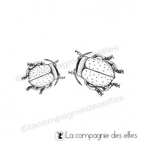 Kafer stempel | beetle rubber stamp