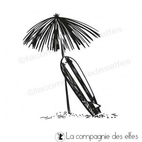 Tampon parasol mer | tampon scrap plage