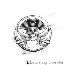 Tampon pirate mer | tampon scrap tête de mort