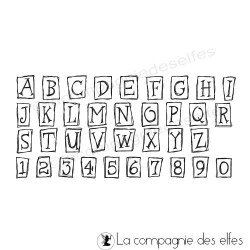 Tampon alphabet petits cadres