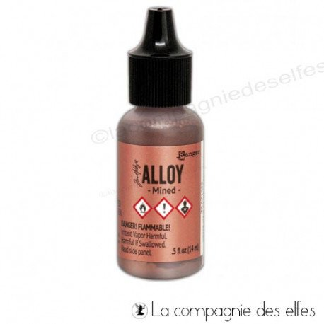 Encre alcool métallique alloy mined | alcohol ink mined