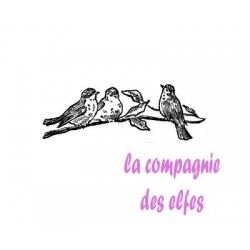 des oiseaux sur une branche tampon nm