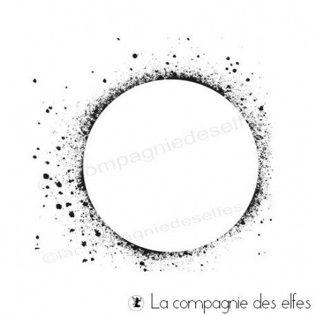 Tampon grunge cercle | grunge circle rubber stamp