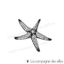Timbre étoile mer