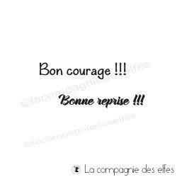 Tampon bon courage, bonne reprise