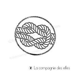 Tampon label corde marine