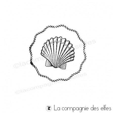 Tampon encreur marine | shell rubberstamp