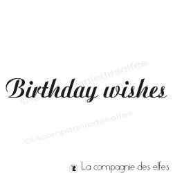 acheter tampon encreur anniversaire en anglais | birthday wishes