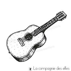 Acheter tampon musique | guitar rubber stamp