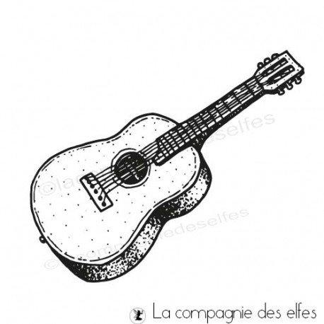 Acheter tampon musique | guitar rubber stamp
