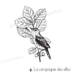 Tampon branche oiseau vertical