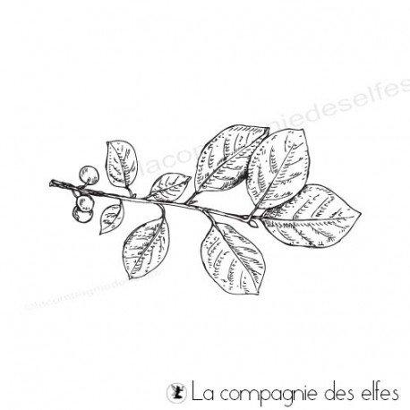 Achat étampe caoutchouc branche feuillages