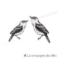 Tampon couple oiseaux grand modèle