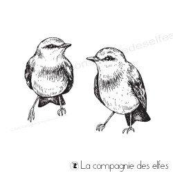 Achat tampon oiseaux couple