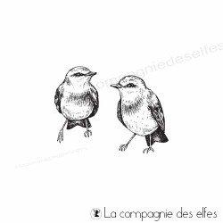 Achatétampe oiseaux couple