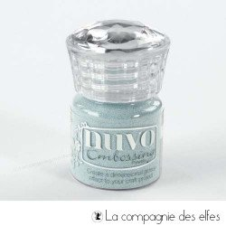 Nuvo embossing powder | achat poudre à embosser bleu