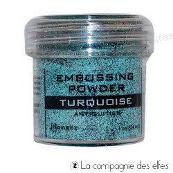 Antiquities turquoise powder | poudre embosser turquoise