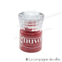 Nuvo embossing powder | achat poudre sportscar red