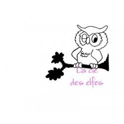 Tampon encreur chouette | eule stempel | owl stamp