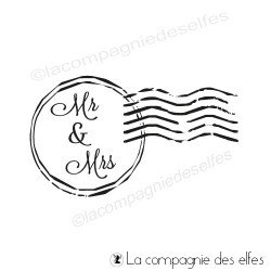 Mr & Mrs rubberstamp | tampon enveloppe mariage