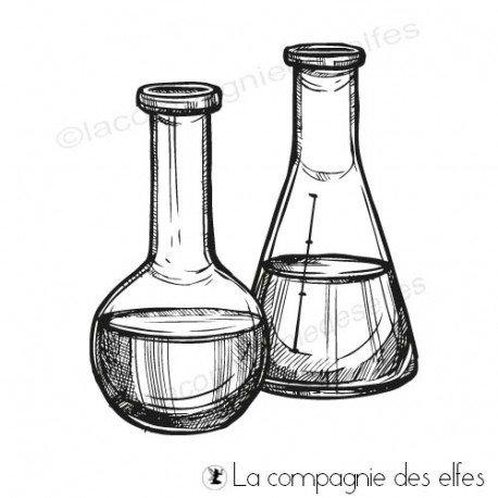 Achat tampon repositionnable | tampon caoutchouc fioles laboratoire