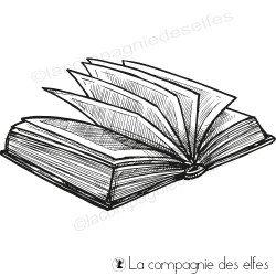 Tampon encreur grand livre ouvert