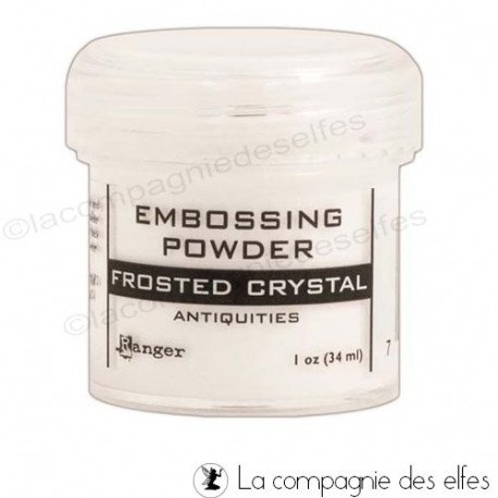 Frosted crystal powder | poudre embosser cristal froid