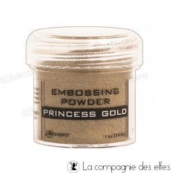 Gold embossing powder | poudre embosser or doré