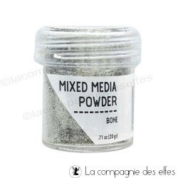 Mixed media embossing powder Bone